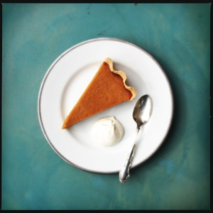 Pumpkin pie, slice, and maple cream 1