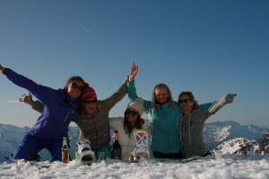 Celebrating the end of the Verbier season