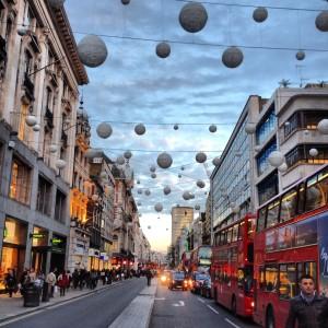 Oxford Street at dusk