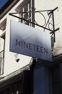 Bare Food Nineteen sign
