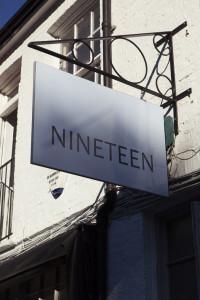 Bare Food Nineteen sign