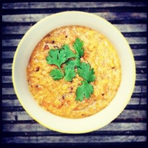Dal with tomato & coconut